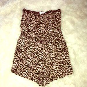 Other - Plus Size Leopard Romper